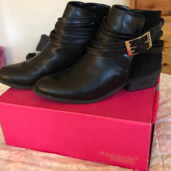 1dcb105b40254 Shoe Dazzle Shoes | Black Ankle Boots | Poshmark